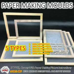 PAPER MAKING MOULD Kit Screen Frame DIY Craft Gift Hand Craft Recycling AUSSIE