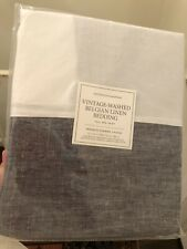 Restoration Hardware Vintage Washed Belgian Linen Full Bedskirt - Dusk