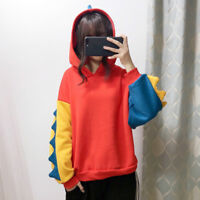 Lady Girl Japanese Pullover Hoodie Jumper Sweatshirts Tops Dinosaur Kawaii Sweet
