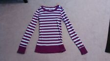 Energie M purple stripped long sleeve shirt top blouse RN33364