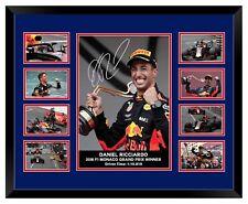 DANIEL RICCIARDO F1 MONACO GP 2018 SIGNED LIMITED EDITION FRAMED MEMORABILIA