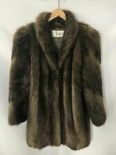 Roth Fur Brown Beaver Fur Coat - Size Large Women's