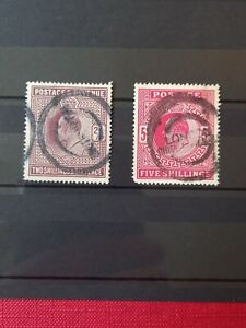 Gb KEVII 2/6 &5/- Stamps Used