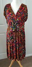 JOE BROWNS Dress Size 18 Floral Multi Stretch Plus Size *Pretty*