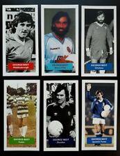 GEORGE BEST Group of 6 Score UK football trade cards CURIOS Chelsea Celtic Villa