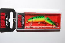 "rapala jointed j-5 j05 ft firetiger floating minnow lure 2"" 1/8oz"