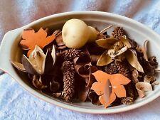 Basket Pumpkin pie scent Potpourri Gourds Dried pods Floral Decor Crafts