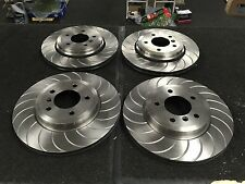 FOR BMW 330D E46 PERFORMANCE GROOVED BRAKE DISCS DISC  FRONT & REAR SET