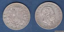 Italie Italia - 5 Lire Vittorio Emanuele 1874 M Milan (3) - Argent Silver