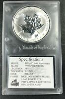 1998 5 DOLLARS CANADA MAPLE LEAF TITANIC PRIVY MARK SILVER .9999 1OZ UNC (MR)