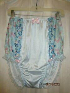 Light Blue Handmade Full Cut Granny Brief Sissy Panties 42in..