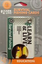 SURVIVAL FISHING CARDS pocket guide learn&live emergency disaster tactical  UST