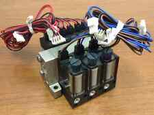 SMC - 3 Dual Solenoid Valves on a Manifold w/Replacable Individual Filter Units