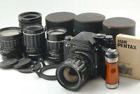 【NEAR MINT】 PENTAX 6x7 Camera TTL Finder 55 75 135 150mm Lenses From JAPAN #1244