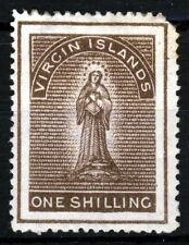 VIRGIN ISLANDS Queen Victoria 1889 One Shilling Sepia Wm Crown CA P14 SG 40 MINT