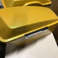 Harley yellow pearl color stock size saddlebags with hardware kit road king glid