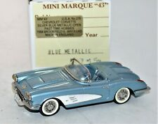 MINI MARQUE USA 27E 1/43 METAL 1958 CHEVROLET CORVETTE CONVERTIBLE MIB