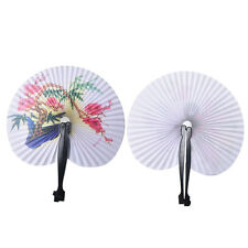 Paper Folding Chinese Oriental Floral Hand Fans Wedding Favours Table FavorFT