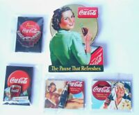 Coca Cola Stock 5 Magnets Fridge Magnets IN Wood Girls Sprite Boy