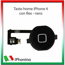 TASTO HOME PULSANTE CENTRALE CURSORE FLAT FLEX PER APPLE IPHONE 4 4G NERO BLACK