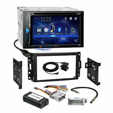 Pioneer 2018 DVD USB Stereo 2Din Dash Kit Amp Harness for Chevy Pontiac Saturn