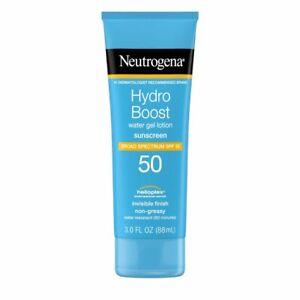 Neutrogena Hydro Boost Water Gel SPF 50 Sunscreen Lotion - 3.0 FL OZ (88 mL)