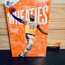 Lebron James Wheaties Box LA Lakers 15.6 oz Full Cereal Sealed IN HAND RARE
