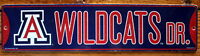 Street Sign Wildcats Dr  NCAA Lic.colorful picture University of Arizona
