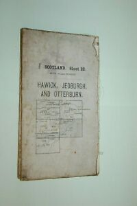 1914. OS MAP HAWICK JEDBURGH ROTHBURY BELLINGHAM CANONBIE LONGTOWN LANGHOLM