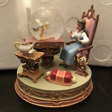 """RARE Disney Beauty and the Beast """"Be Our Guest"""" Belle Snow Globe snowglobe w box"""