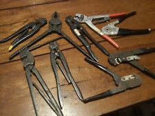 Amp hand Crimper lot of 5 Tyco 26-22 type F C industrial air craft + other brand