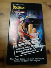 Dollman Vs. Demonic Toys Horror Action VHS 1993 Quiet Riot Featured Promo Tested