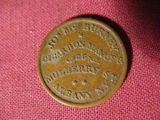 R3 Civil War Store Card-Jos. McBurney-Cigar Box Maker-Albany, Ny-10C-1A