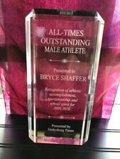 """9 1/2"""" Acrylic Award Employee of Month/Retirement/Sports Plaque-Free Engraving"""