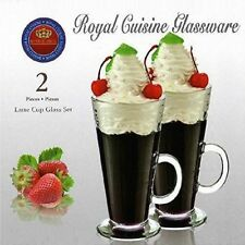 2 Royal Cuisine Latte Glasses Hot Chocolate Cappuccino Tea Coffee Mug