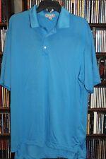 Peter Millar Summer Comfort ligh blue Golf Polo Shirt New Albany Mens XL (b141)