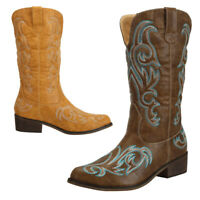 SheSole Womens Western Cowgirl Cowboy Boots Vintage Bridal Shoes Brown Tan Black