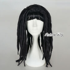 Egypt Queen Black Long Dreadlocks Hair Fancy Cosplay Party Wig Cleopatra