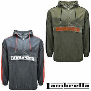 Lambretta Overhead Jacket Pull Over Hooded Lightweight Windbreaker Mens Sports