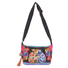 "Laurel Burch Cotton Canvas Crossbody -""Kindred Friends"""