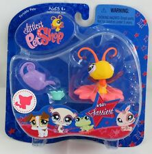Littlest Pet Shop Sassiest Yellow Butterfly with Flower Perch and Watering Can