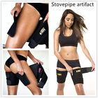 Black  Slimming Belt  Burn Cellulite Wraps Leg Loss Thigh Slimmer Shaper B L G
