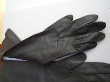 Vintage Ladies Leather Gray Gloves Size 61/2