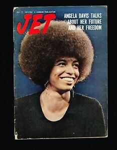 ANGELA DAVIS  BLACK AMERICANA  SHIRLEY CHISHOLM JET MAGAZINE JULY 1972