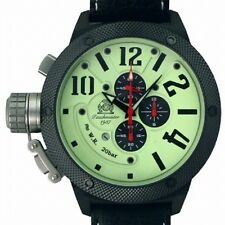XXL-U-Boot CHRONOGRAPH 3 Militär Taucheruhr 20ATM Luminous T0260