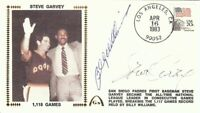 Billy Williams Steve Garvey Dual Signed Autographed First Day Cover  JSA U06586