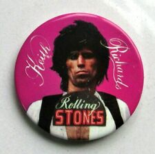 ROLLING STONES KEITH RICHARDS LARGE VINTAGE METAL PIN BADGE FROM THE 1970's