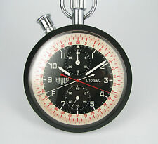Vintage & Big Pocket Chronograph HEUER, Split 1/10, rattrapante, very fine
