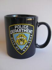 NYPD Coffee Mug City of New York Police Department Shield Logo Navy Blue 10 oz