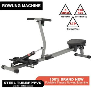 Folding Exercise Rowing Machine Resistance Cardio Workout Home Fitness Gym Rower